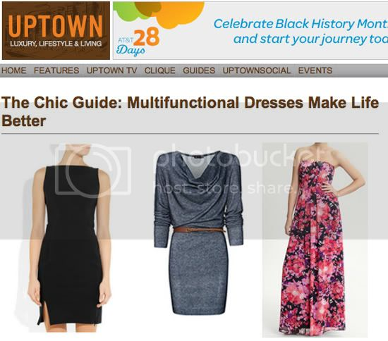 UPTOWN MAGAZINE-MULTIFUNCTIONAL DRESS