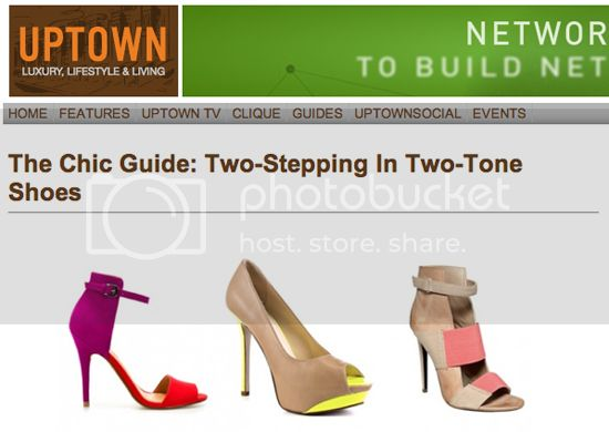 Uptown Magazine-The Chick Guide: Two-tone shoes