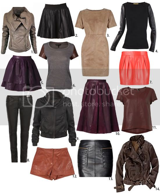 leather garment options