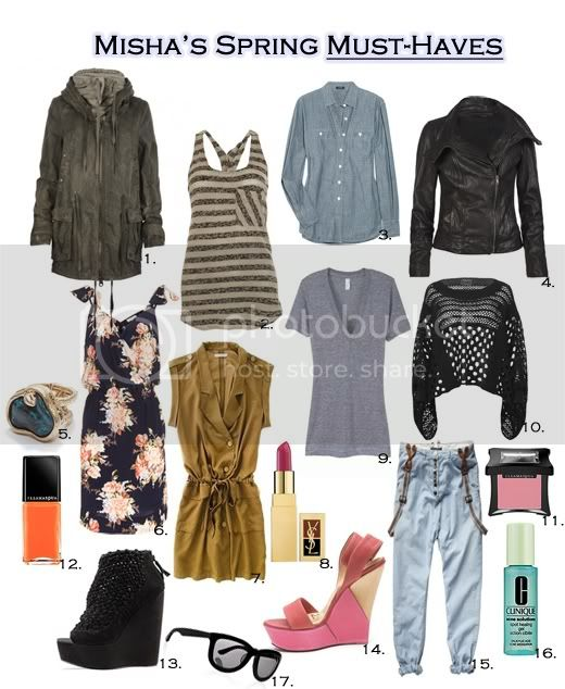 misha's spring must-haves