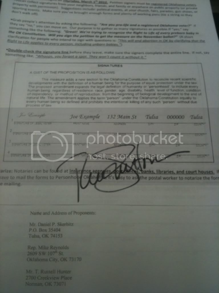 Santorum Signature